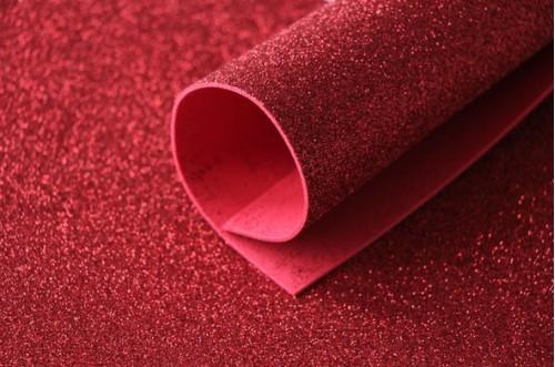 Красный глиттерный фоамиран 2 мм