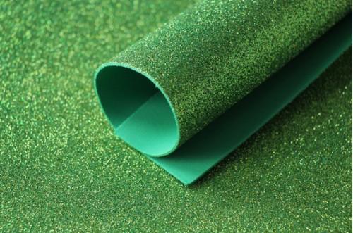 Зеленый глиттерный фоамиран 2 мм