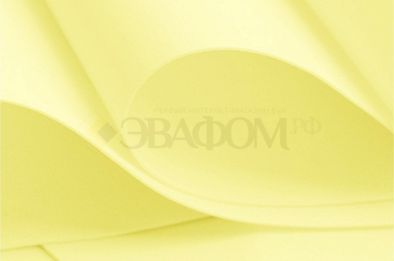 Лимонный фоамиран 2 мм