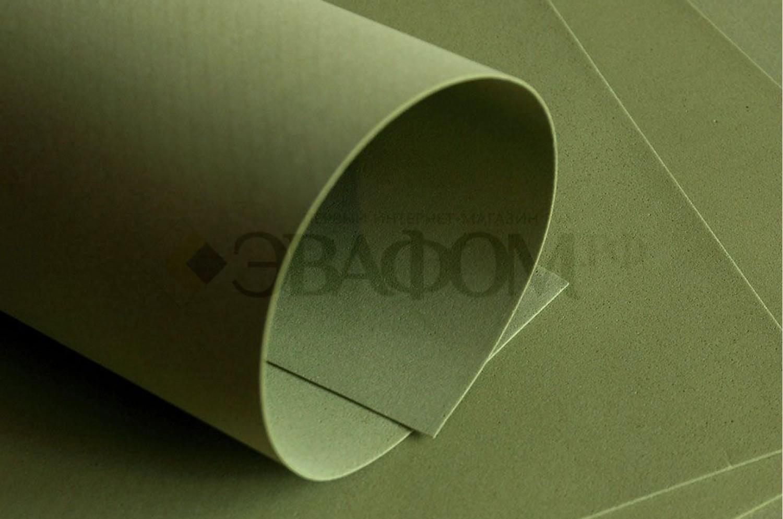 Оливковый фоамиран 2 мм
