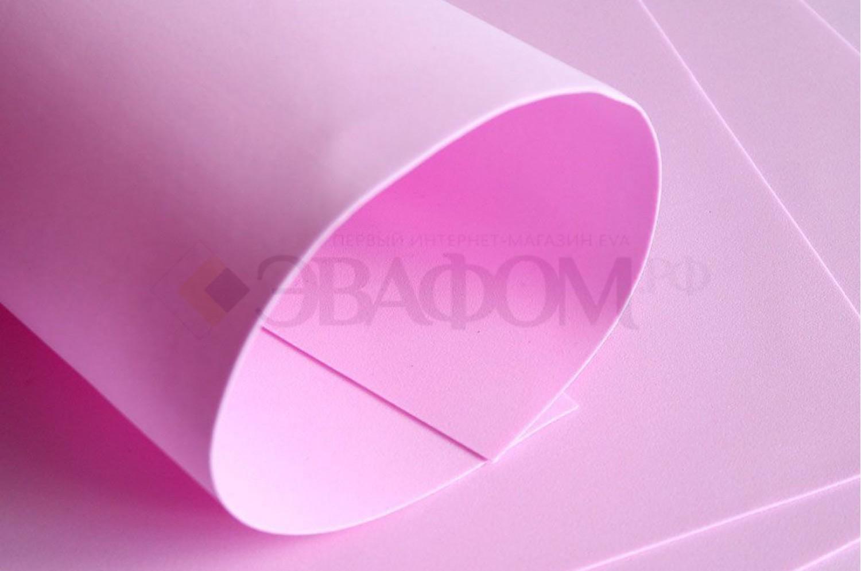 Розовый фоамиран 2 мм